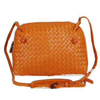 Bottega Veneta intrecciato nappa cross body bag BV1515 orange